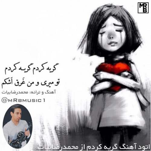 دانلود آهنگ جدید گریه کردم محمدرضا بیات